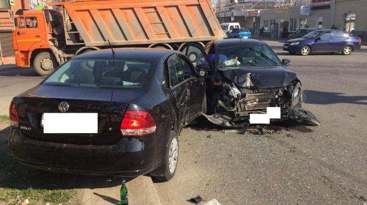 В Пятигорске в ДТП пострадал водитель «Лада Гранта»