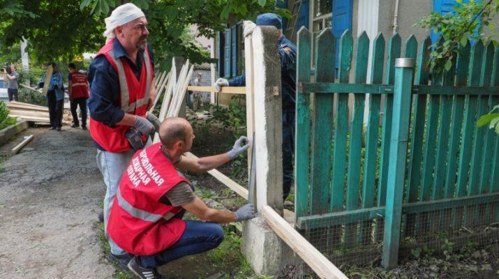 Добровольческие организации помогают ликвидировать последствия паводка в Ставропольском крае