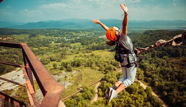 17 сентября в Березовском ущелье роупджамперы будут прыгать с высоты